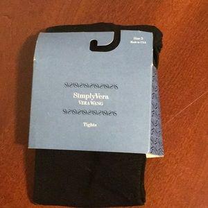 Simply Vera Vera Wang Black Tights Size 3.